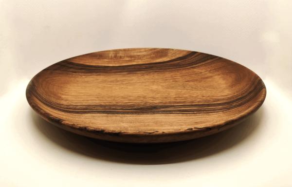 vaisselle en bois de noyer tourné écologique