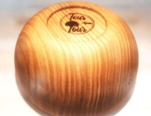 Bolito rond en bois de frêne – 12cm