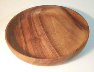 Assiette enfant en bois de noyer – 20 cm