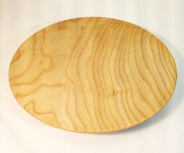 Assiette en bois de frêne dessus