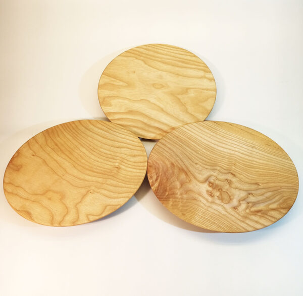 Assiette polyvalente en bois de frêne en tryo