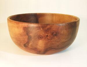 Saladier en bois de noyer artisanal